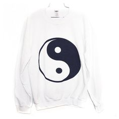 The Ying Yang Sweatshirt (Select Size) ($25.00) ❤ liked on Polyvore featuring tops, hoodies, sweatshirts, sweaters, shirts, jumpers and shirt tops