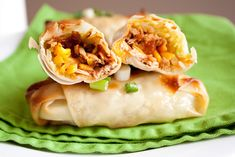 BBQ Chicken egg rolls--also has link to Buffalo Chicken Egg rolls