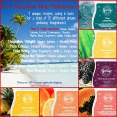 Create these 13 different tropical fragrances with one 6-pack of #Scentsy Bars! If you've never mixed your Scentsy, you're missing out! Click the pic to get yours!! https://stacieshavers.scentsy.us