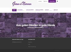 Aus guten Händen in gute Hände. Das ist das Motto dieser freien Verschenkplattform.  #webagentur #webdesign #bern Web Design, Bern, Marketing, Motto, Platform, Design Web, Website Designs, Site Design
