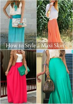 How to Wear a Maxi Skirt #style