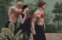 Heart Connection by Daria Petrilli Daria Petrilli, Perez Garcia, Surrealism Photography, Inspirational Artwork, Italian Artist, Pop Surrealism, Graphic Design Branding, Art Studies, Illustrations