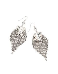 Peacock earrings without all the color.  Love these!