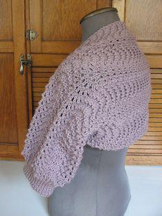 lavender knitted shrug