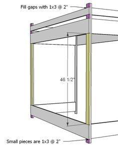 Bedroom Loft Ideas Diy Ana White Ideas For 2019 Loft Bed Desk, Build A Loft Bed, Loft Bed Plans, Loft Bed Frame, Bedroom Loft, Diy Bedroom, Girls Bedroom, Bedroom Ideas, Full Size Bunk Beds
