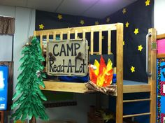 My Camp-Read-A-Lot loft for her classroom... the ladder and sides