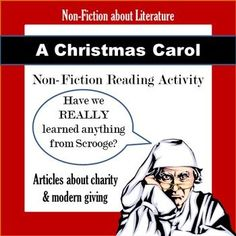 $- A Christmas Carol non-fiction reading activity! 2-day lesson includes articles about charity, donations, and whether or not modern society has truly learned Scrooge's lesson!