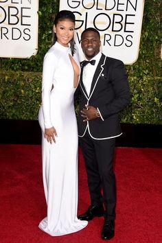 Pin for Later: Seht alle Stars auf dem roten Teppich bei den Golden Globes! Eniko Parrish und Kevin Hart