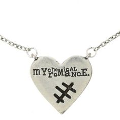 My Chemical Romance Stitch Heart Necklace   Hot Topic (14 AUD) ❤ liked on Polyvore