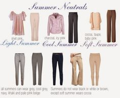 expressing your truth blog: Soft Summer vs. Soft Autumn: how do you tell the difference? || Soft Summer neutrals graphic.