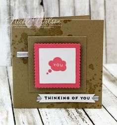 Nicole Wilson Independent Stampin' Up!® Demonstrator - Onstage Live Brisbane Display Board mini notecard thinking of you Sample using hostess set Iconic Occasions. www.facebook.com/NicoleWilsonStamp #stampinup #onstage2016 #brisbanelive