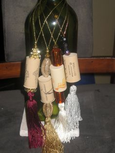 Wine cork ornament bottle decoration. $5.00, via Etsy.