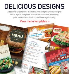 Make restaurant menus with templates