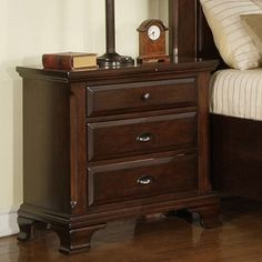 Shop for Picket House Furnishings Brinley Cherry Storage Bedroom Set. Get free delivery On EVERYTHING* Overstock - Your Online Furniture Shop! Get in rewards with Club O! Cherry Wood Nightstand, 3 Drawer Nightstand, Nightstands, Cherry Dresser, Dresser Knobs, Master Suite Bedroom, Thing 1, Metal Drawers, Home Living