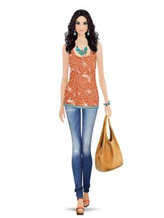 Styled with: Joie, Rebecca Minkoff, Be & D, Dannijo, Isharya   Create your own look with Covet Fashion