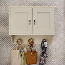 Perfect for hiding away everything from slippers to hats, this cute cupboard takes up next to no space.  Find all our hallway furniture and storage ideas at http://www.thedormyhouse.com/catalogue/hallway