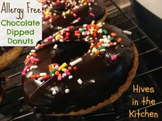 Hives in the Kitchen: {Allergy Free} Chocolate Dipped Donuts