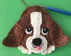 Crochet basset hound dog beginning tail