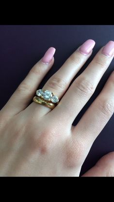 What kind of wedding band for a 3 stone ering Ring Stone and