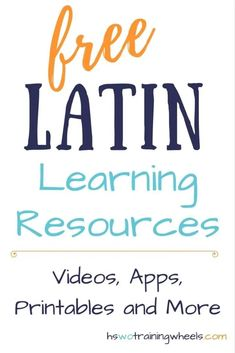 Free Latin Learning Resources Latin may be an ancient language, there are still plenty of free online resources to teach it! Check out these videos, apps, printables and more! Latin Language Learning, Teaching Latin, Foreign Language, Language Arts, Greek Language, Second Language, Teaching French, German Language, Japanese Language