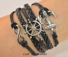 Handwoven personality infinite ship anchor the by Coolmybracelet, $5.99