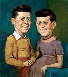 John Currin. The Kennedys