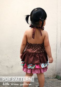 Brandy Dress - PDF Pattern - Size 12 months to 8 years old and tutorial.. $6.00, via Etsy.
