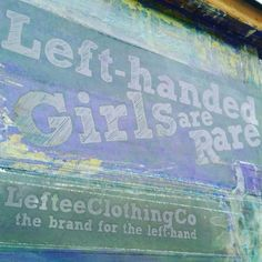 The screens we use for the 'Left-handed Girls are Rare' prints!