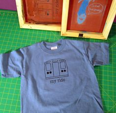 """""""For the urban child who knows that public transit is the best ride of all."""" From FourEyesHandmade on Etsy."""