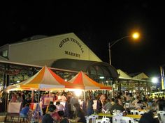 Queen Victoria night market in Melbourne, great atmosphere, great food, the best Sangria stall!