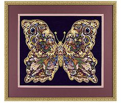 Elegant Butterfly Gold Collection Needlepoint kit