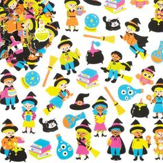 Witch & Wizard Foam Stickers For Halloween Children's Arts, Crafts And for sale online Halloween Treats For Kids, Halloween Crafts, Art For Kids, Crafts For Kids, Craft Stickers, Toy Craft, Craft Supplies, Witch, Snoopy