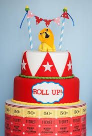 simple circus cake - Google Search