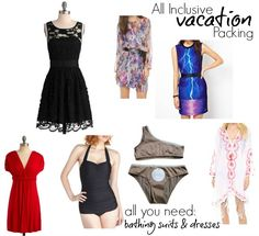all inclusive packing list, what to pack for an all inclusive vacation