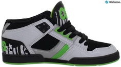 Summer 2012 Osiris! We love the mix of green and backend zebra inspired stripes on this mid. Osiris are always coming up with the coolest colour mixes and styles of shoes.