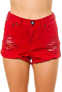 Womens Red Shorts Uk - The Else
