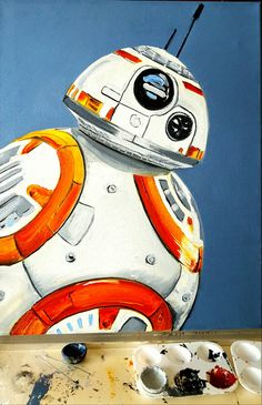 My Fan Art Painting Star Wars oil on canvas BB-8 Commission