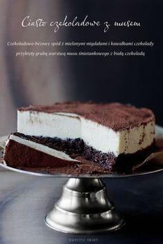 Ciasto czekoladowe z białym musem