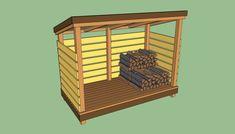 Firewood storage shed plans