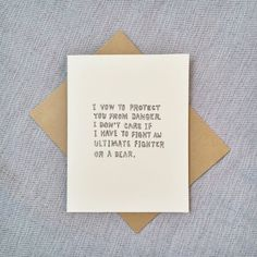 Parks and Recreation Valentine's Card, Funny Valentine, Cute Valentine's Day Card, Andy Dwyer Quote, Romantic Card, Wedding Card