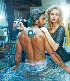 Ranveer Singh Photoshoot with Hot Robot Girl – Filmfare Magazine 2013