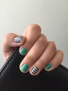 Jamberry combo: Athens, black and white stripe and black and white polka. https://jkoshjams.jamberry.com/product/athens#.VgjXPXvQXS8