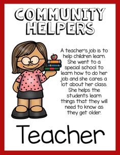 6 Reasons This Community Helpers Pack is the Best - The Super Teacher Community Workers, School Community, Classroom Community, Preschool Songs, Preschool Lessons, Community Helpers Activities, Jobs For Teachers, Student Learning, Physical Education
