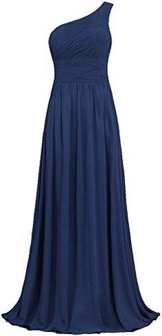 ANTS Women's Pleat Chiffon One Shoulder Bridesmaid Dresses Long Evening Gown Size 2 US Navy ANTS http://www.amazon.com/dp/B0192OR7XW/ref=cm_sw_r_pi_dp_3gHUwb19C143J