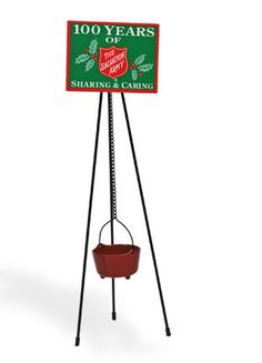 Red Kettle with Tripod