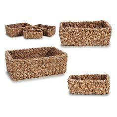 Set of Baskets Gift Decor (3 Pieces) (21 x 12 x 31 cm)