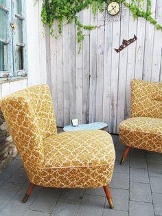 Bequemer Vintage Sessel aus den 50ern / comfy and fancy vintage chair, 50s by Gerne Wieder via DaWanda.com - super schön für FREIE ZEREMONIEN als Braut und Bräutigam Stühle!