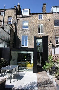 Shortlisting Luxury Categories: IQ Glass UK, Dalston House - The Design Society Architecture Awards, Residential Architecture, Architecture Design, Glass Extension, Rear Extension, Extension Ideas, Townhouse Apartments, Aluminium Cladding, House Extensions