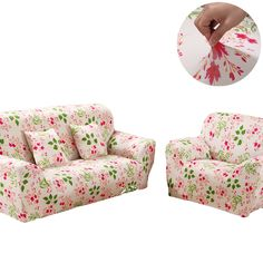 18-45USD Cheap universal Sofa cover flexible Stretch Big Elasticity Couch cover Loveseat sofa Funiture Cover flower Machine Washable