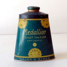 Vintage Talcum Powder Tin, c1930-1940.